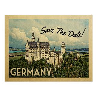 Germany Save The Date Neuschwanstein Castle Postcard