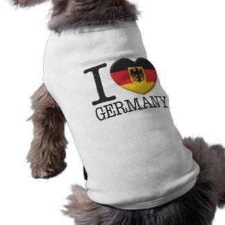 Germany Sleeveless Dog Shirt