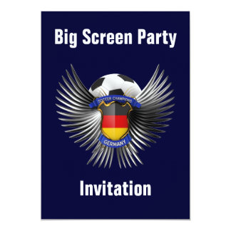 Germany Soccer Champions 13 Cm X 18 Cm Invitation Card