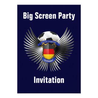 Germany Soccer Champions Custom Invites