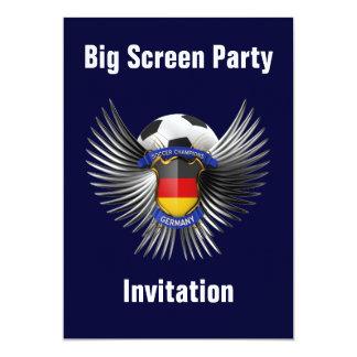 "Germany Soccer Champions 5"" X 7"" Invitation Card"