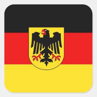 GERMANY SQUARE STICKER
