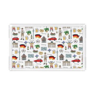 Germany | Symbols Pattern Acrylic Tray
