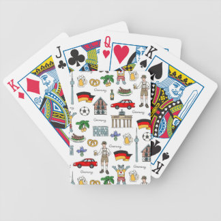 Germany | Symbols Pattern Bicycle Playing Cards