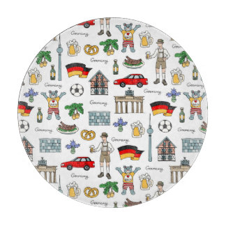 Germany | Symbols Pattern Cutting Board