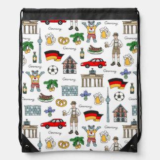 Germany | Symbols Pattern Drawstring Bag