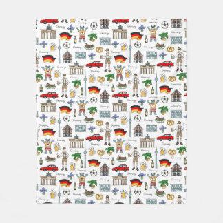 Germany | Symbols Pattern Fleece Blanket