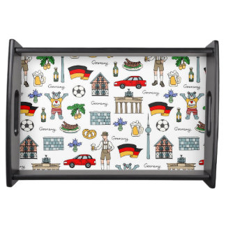Germany | Symbols Pattern Serving Tray