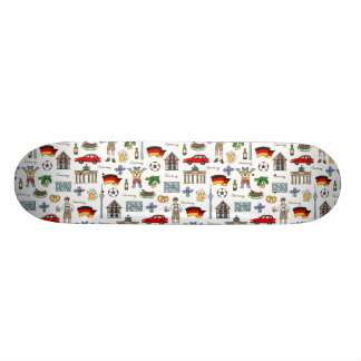 Germany | Symbols Pattern Skate Board Deck