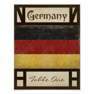 Germany Table Number Poster