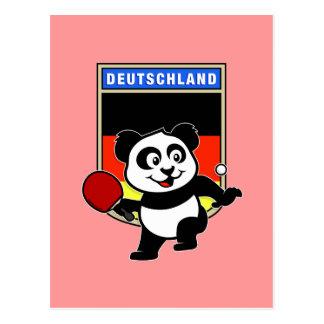 Germany Table Tennis Panda Postcard