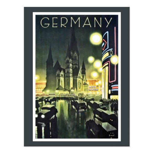 Germany travel ad (Berlin) Postcards