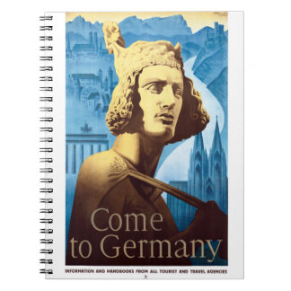 Germany Vintage Travel Poster Restored Notebooks