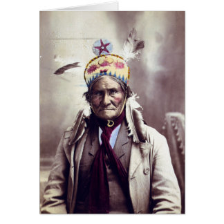 Geronimo, age 74 card