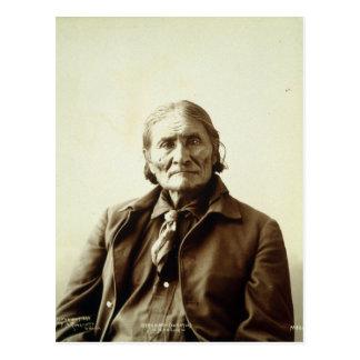 Geronimo (Guiyatle) Apache Native American Indian Postcard