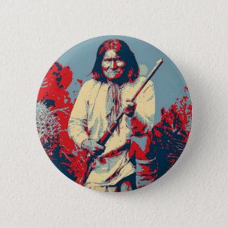 Geronimo Pop Art - Apache Indian Warrior Chief 6 Cm Round Badge