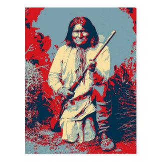 Geronimo Pop Art - Apache Indian Warrior Chief Postcard