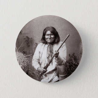 Geronimo - Vintage 6 Cm Round Badge