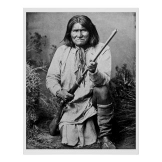 Geronimo with Rifle 1886 Poster
