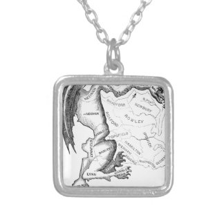 Gerry-Mander Silver Plated Necklace