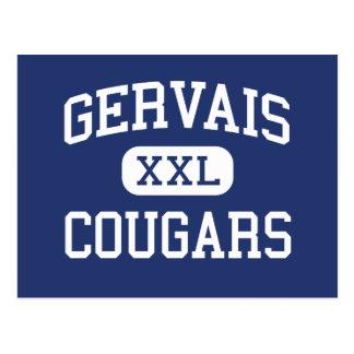 Gervais - Cougars - High School - Gervais Oregon Postcard
