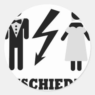 geschieden icon round sticker