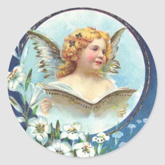 Gesegnete Ostern, Blessed Easter Classic Round Sticker