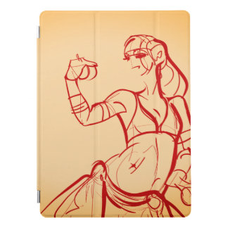 Gesture sketch drawing  tribal fusion bellydancer iPad pro cover