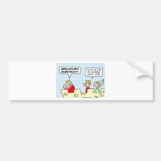 gesundheit king health care universal bumper sticker