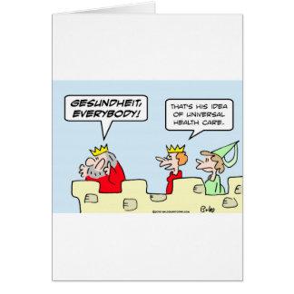 gesundheit king health care universal cards