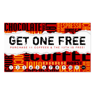 get 1 free COFFEE Business Card