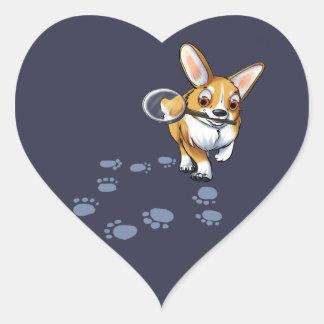 """""""Get a Clue"""" Corgi Heart Sticker"""