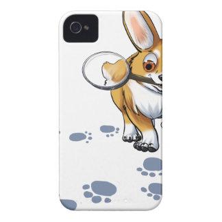 """""""Get a Clue"""" Corgi iPhone 4 Case-Mate Cases"""