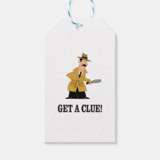 get a clue man. gift tags