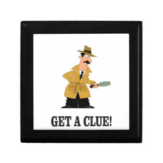 get a clue man. small square gift box