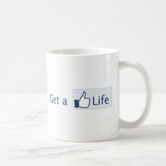 Get a Life Basic White Mug