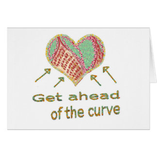Get ahead of the curve - Management Jargon Greeting Card