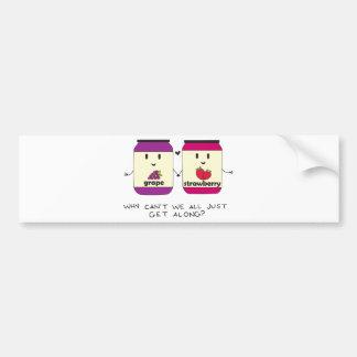 Get Along Bumper Sticker