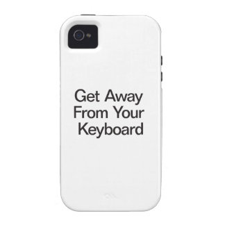 Get Away From Your Keyboard Case For The iPhone 4