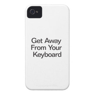 Get Away From Your Keyboard iPhone 4 Cases