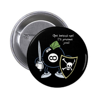 Get Behind the 8-Ball! 6 Cm Round Badge