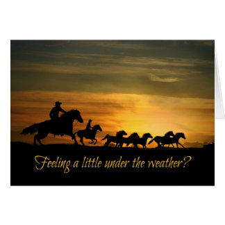 Get Better, Feel Better Cowboy Riding Card