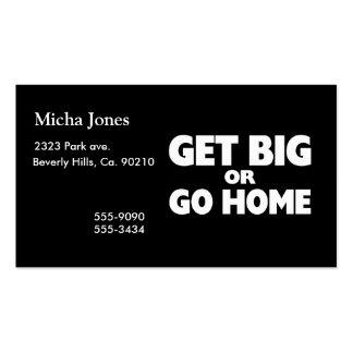 Go to the gym business cards 16 go to the gym busines for Go business cards