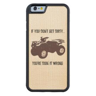 Get Dirty Wood Phone Case