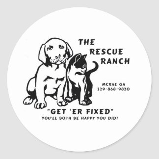 get er fixed classic round sticker