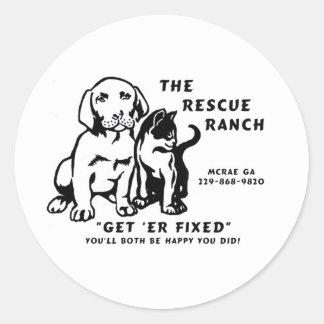 get er fixed round sticker