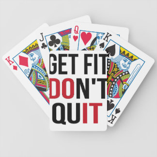 Get Fit Don't Quit - DO IT Bicycle Playing Cards
