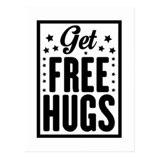 Get Free Hugs Postcard