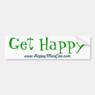 Get Happy Words Bumper Sticker