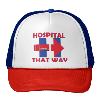 Get her to the Hospital  Red-Whte-Blue Trucker Hat